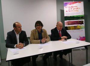 D'esquerre a dreta: Carles Luz, Joan Arrufí i Joan Aregio